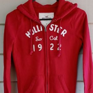 RED HOLLISTER HOODIE SMALL